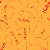 Halloween words and icons background vector — Stock Vector