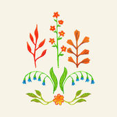 Floral decor set. — Stock Vector