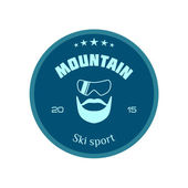 Ski logo mountain — Stock Vector