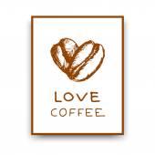 Koffie poster — Stockvector