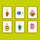 Tea Coffee Poster — Stock Vector