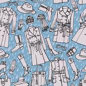 Fashion clothes seamless pattern. — Stock Photo
