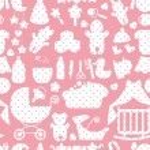 Newborn Baby boy seamless pattern with Polka dot — Stock Photo #53809025