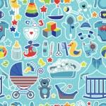 Newborn Baby boy seamless pattern with Polka dot — Stock Photo #53809069