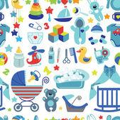 Newborn Baby boy seamless pattern with Polka dot — Stock Photo