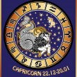 Capricorn zodiac sign.Horoscope circle.Retro — Stock Photo #54593839