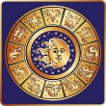 Horoscope zodiac sign circle with moon,sun — Stock Photo #54593859