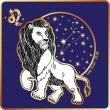 Horoscope.Leo zodiac sign — Stock Photo #54593897