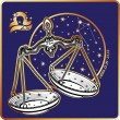 Horoscope.Libra zodiac sign — Stock Photo #54593901