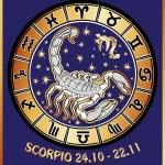 Scorpio zodiac sign.Horoscope circle.Retro Illustration — Stock Photo #54593967