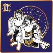 Horoscope.Gemini zodiac sign with boys twins — Stock Photo