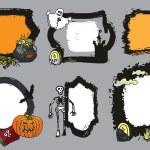 Halloween spooky lebel set.Doodles Design template — Stock Photo #54777607