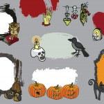 Halloween spooky lebel set.Doodles Design template — Stock Photo #54777609