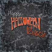 Halloween party pattern background.Doodles sketchy chalkboard — Stock Photo