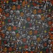 Halloween icons pattern background.Doodles sketchy chalkboard — Stock Photo