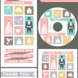 Wedding design template set. Flat icons,wedding wear — Stock Photo #54882799