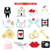 Wedding  icons for Web and Mobile. Retro — Stock Photo