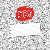 Doodle seo icons backgrround.Business backdrop — Stock Photo