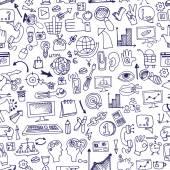 Doodle seo icons backgrround.Business backdrop — Stock Photo