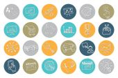 Doodle business seo icons .Outline sketchy — Stock Photo