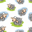 Funny sheep Seamless pattern — Stock Photo #56853375