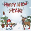 New year greeting card — Stock Photo #56853617