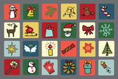 Christmas, new year icons set — Stock Photo