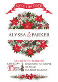 Winter wedding save date card — Stock Photo