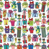 Gift box seamless pattern — Stock Photo