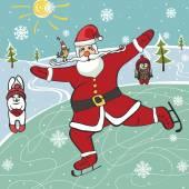Santa  figure skating — Stock Photo