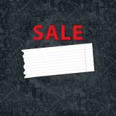 Females outerwear, accessories sale background — Stock Photo