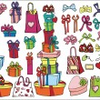 Colored gift boxes, bags set — Stock Photo #59282289