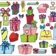 Colored gift boxes, bags set — Stock Photo #59282331