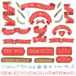 Set of Christmas ribbons — Stock Photo #60111937