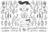 Doodle floral decor — Φωτογραφία Αρχείου