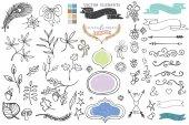Doodle dekor element — Stock fotografie