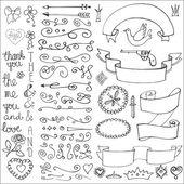 Doodles ribbons decor element. — Stock Photo