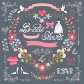 Bridal shower template set. — Φωτογραφία Αρχείου