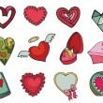 Colored  hearts set. — Stock Photo #61989597