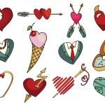 Colored  hearts set. — Stock Photo #61989599