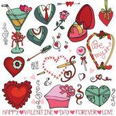 Valentine day element set — Stock Photo