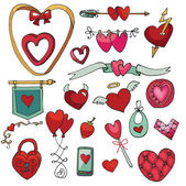 Valentine day Hearts  set — Stock fotografie