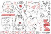 Walentynki elementy kolekcji — Zdjęcie stockowe