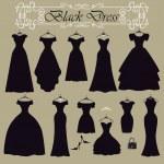 Black party dresses — Stock Photo #62034923