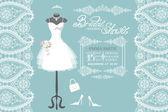 Wedding bridal dress — Stock Photo