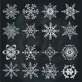 Winter white Snowflakes — Fotografia Stock