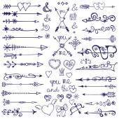 Doodle arrows,decor element — Φωτογραφία Αρχείου