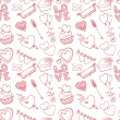 Hearts seamless pattern. — Stock Photo #64369539