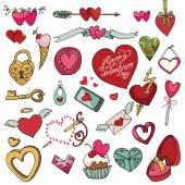 De dag van valentijnskaarten set. — Stockfoto