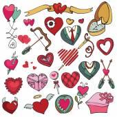 Valentines day set. — Stock Photo